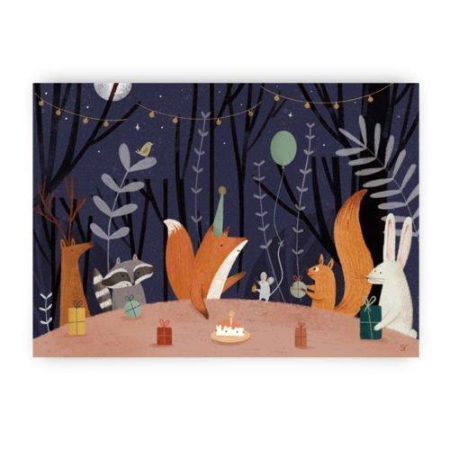 verjaardagskaart vos
