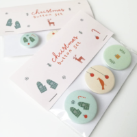 kerstbutton set