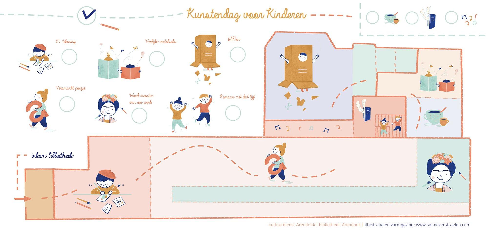 Schatkaart kunstendag voor kinderen