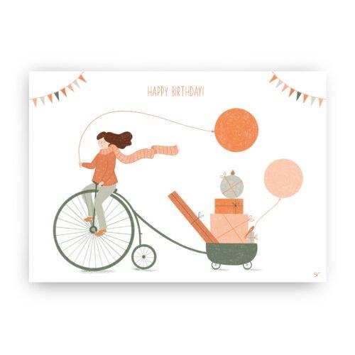 verjaardagskaart hoge bi