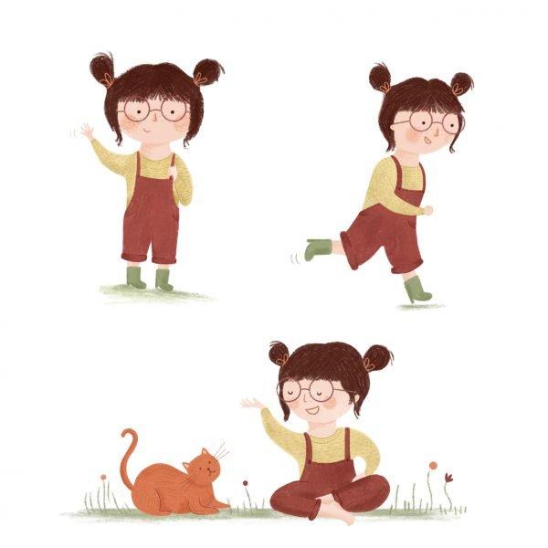 illustratie meisje