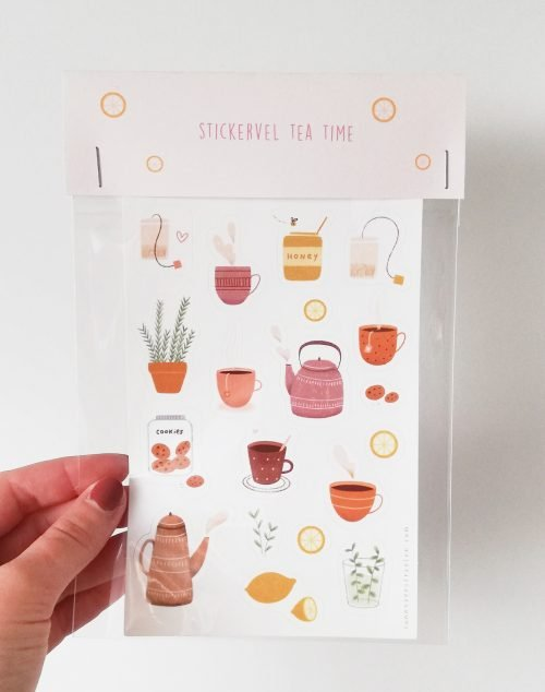 stickervel tea time