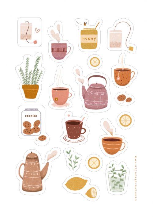 stickers tea time