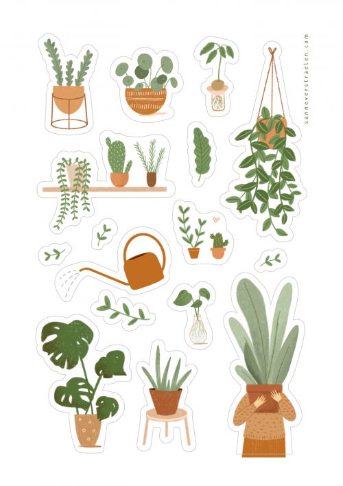 stickervel plant lovers