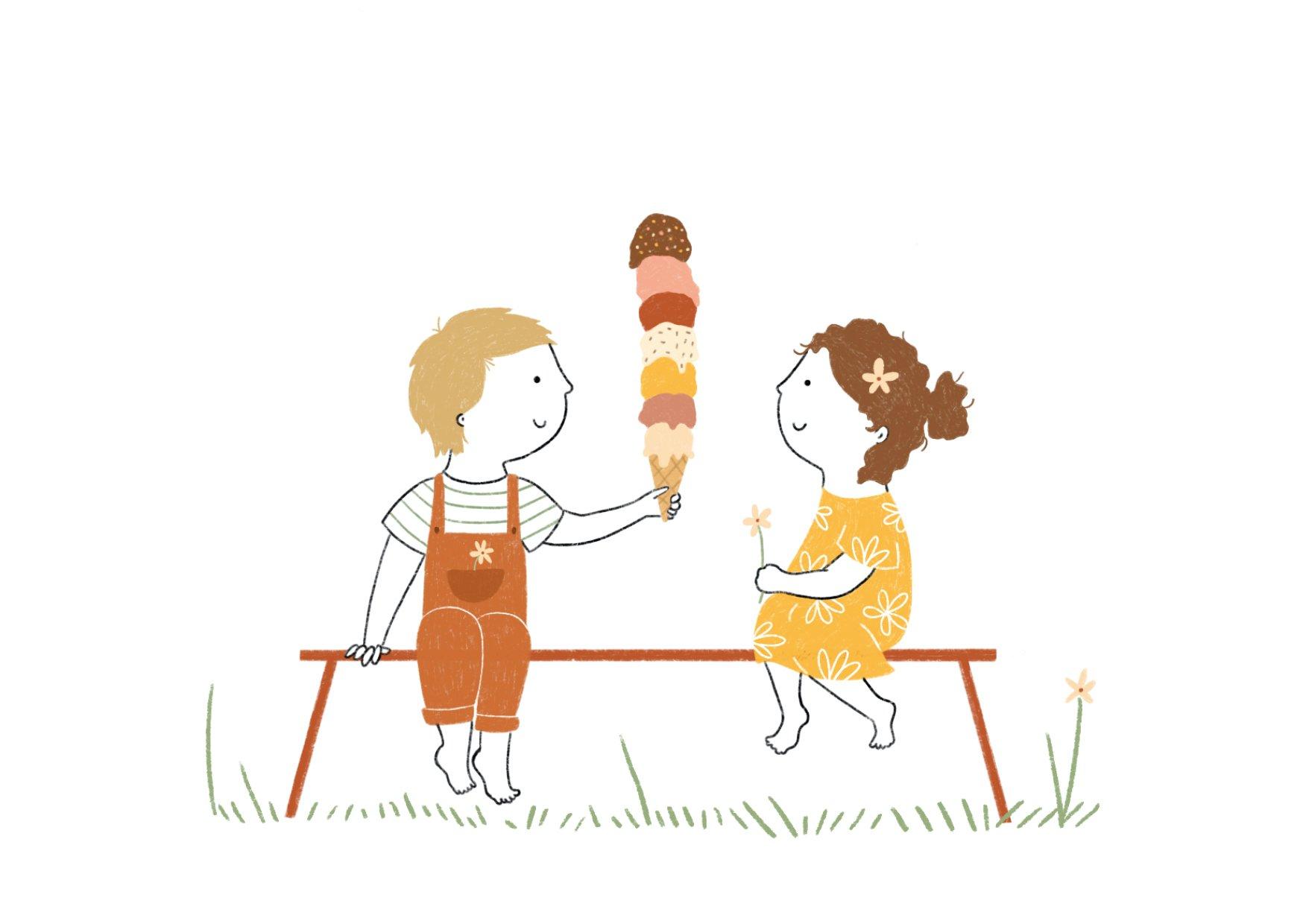 ijsje delen